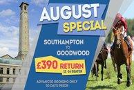 Southampton To Goodwood Minibus hire